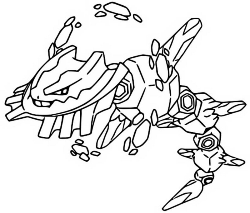 Coloriage Mega Steelix 208