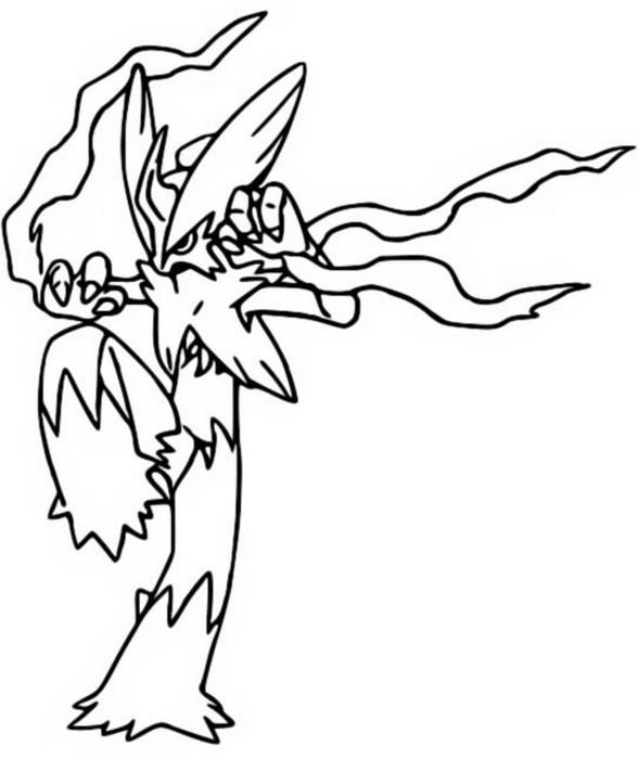 Coloriage Pokemon Mega Evolues Mega Brasegali 257