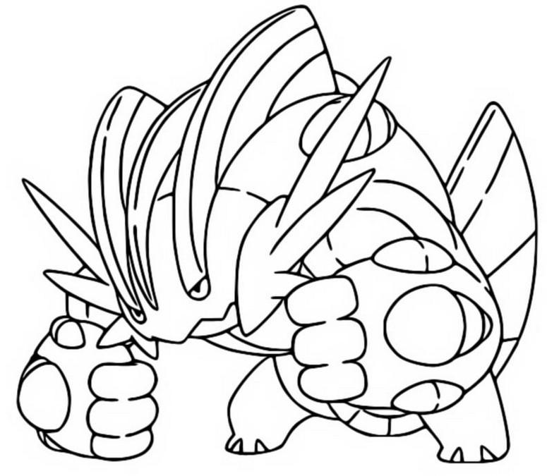 Coloriage Pokemon Mega Evolues Mega Laggron 260 260