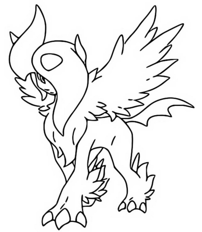 coloring pages absol - photo#18