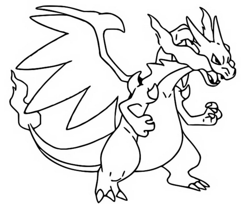 Coloriage Pokemon Mega Evolues Mega X Dracaufeu 6 6 Mega Coloring Pages
