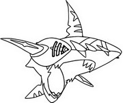 Coloriage Mega Sharpedo 319