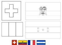 Coloriage Groupe E: Suisse - Equateur - France - Honduras
