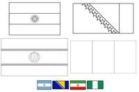 Coloriage Groupe F: Argentine - Bosnie-Herzégocvine -  Iran - Nigeria