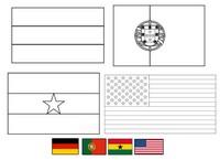 Coloriage Groupe G: Allemagne - Portugal - Ghana - Etats-Unis