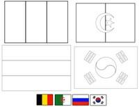 Coloriage Groupe H: Belgique - Algérie - Russie - Corée du Sud