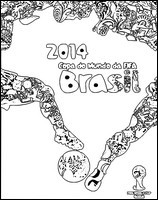 Coloriage Coupe du monde de football 2014