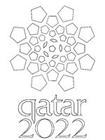 Coloriage Logo Qatar 2022
