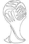 Coloriage Logo coupe du monde 2014