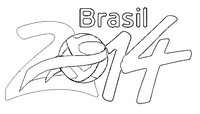 Coloriage Brasil 2014