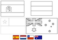 Coloriage Groupe B: Espagne - Pays-bas - Chili - Australie