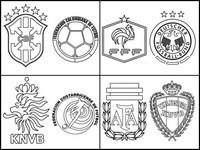 Coloriage Quarts de finale de la coupe du monde