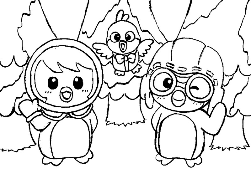 Pororo coloring the image kid has it for Pororo coloring pages
