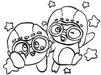 Coloriage Pororo et Kirby