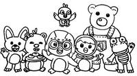 Coloriage Pororo et ses amis