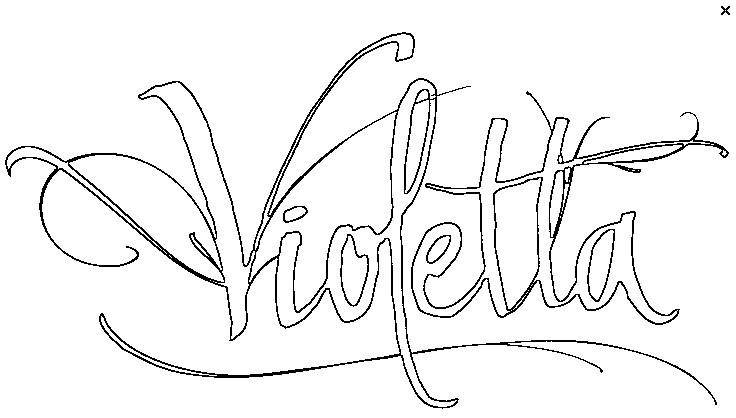 coloriage logo violetta