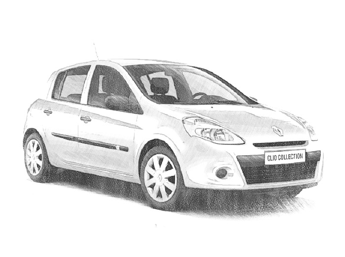 Coloriage Voitures Renault Twingo 1