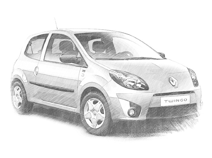 Coloriage Voitures Renault Clio 2