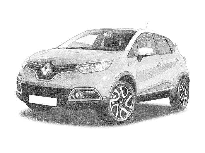 Coloriage Voitures Renault : Captur 3