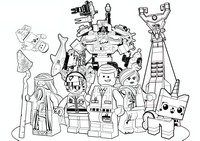 Coloriage La grande aventure Lego