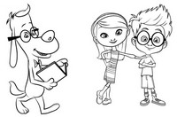Coloriage M. Peabody et Sherman