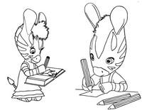Coloriage Zou et Elzée dessinent