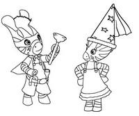 Coloriage Zou et Elzée se déguisent