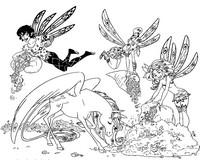 Coloriage Mia, Mo, Yuko et Onchao