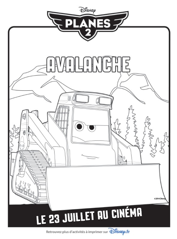 Coloriage Avalanche