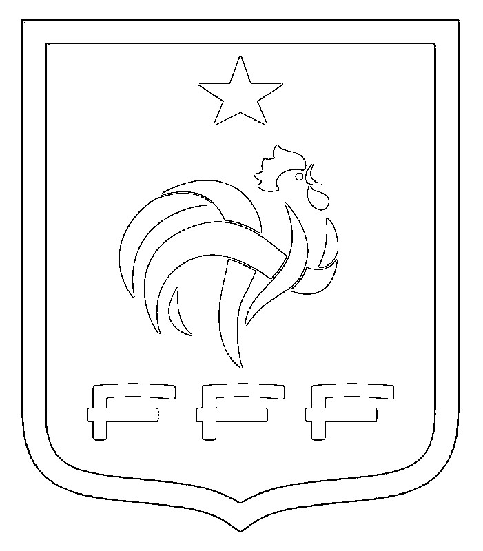 Coloriage equipe de france de football ecusson quipe de france football 1 - Coloriage equipe de foot ...