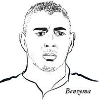 Coloriage Karim Benzema