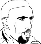 Coloriage Franck Ribery