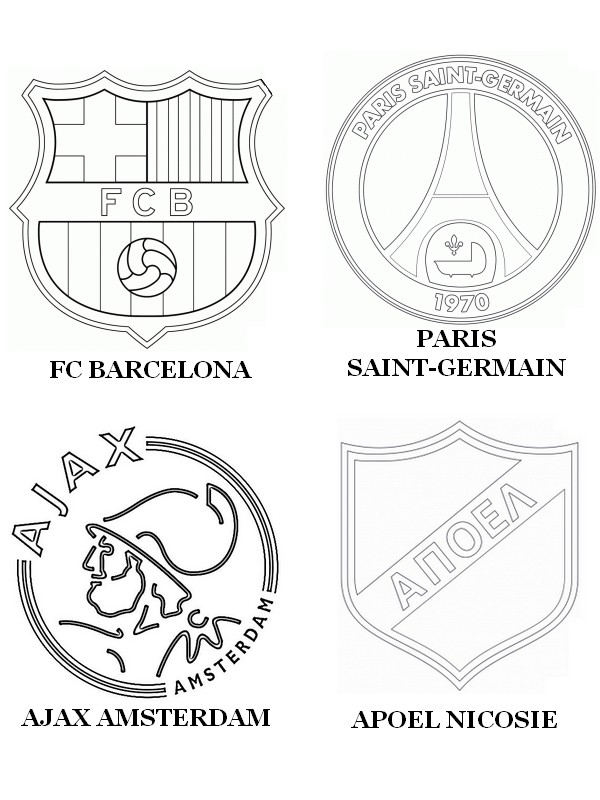 Coloriage Ligue Des Champions 2015 Groupe F Fc Barcelone Paris