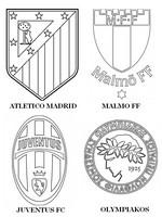 Coloriage Groupe A: Atlético Madrid - Juventus FC - Olympiakos - Malmö FF