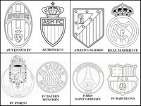 Coloriage Quarts de finale de la ligue des champions