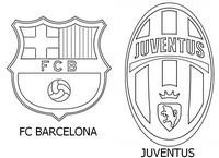 Coloriage Finale de la ligue des champions 2015 FC Barcelone - Juventus