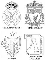Coloriage Groupe B:  Real Madrid CF - FC Bâle - Liverpool FC -Ludogorets Razgrad