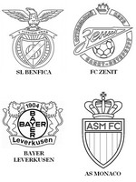 Coloriage Groupe C: SL Benfica - Zenith Saint-Petersbourg - Bayer Leverkusen - AS Mon