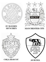 Coloriage Groupe E: FC Bayern Munich - Manchester City - CSKA Moscou - AS Roma