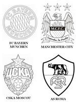 Coloriage Groupe E: FC Bayern Munich - Manchester City - CSKA Moscou - AS Roma