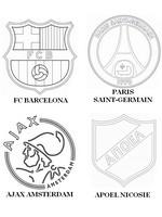 Coloriage Groupe F: FC Barcelone - Paris Saint-Germain - Ajax Amsterdam - APOEL Nicos
