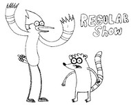 Coloriages copa toon coloriage for Regular show coloring pages
