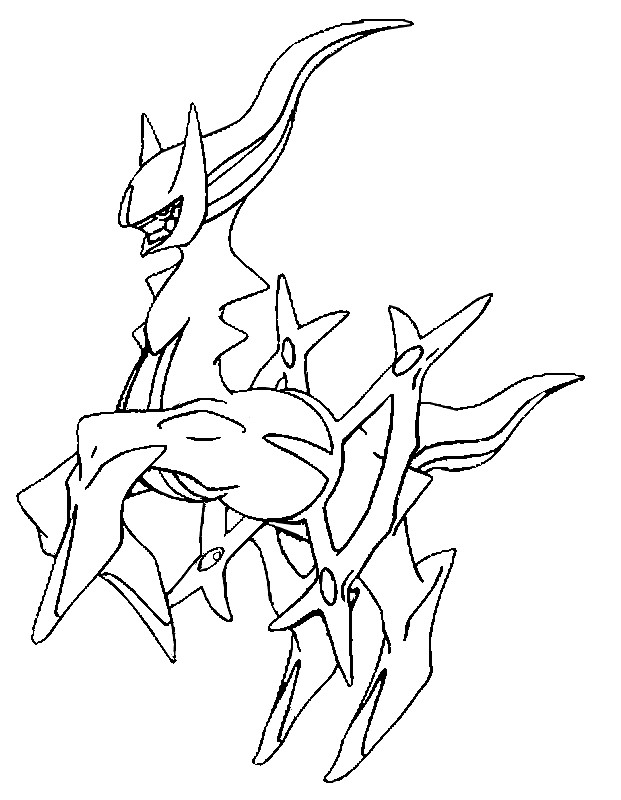 pokemon zygarde coloring pages - photo#27