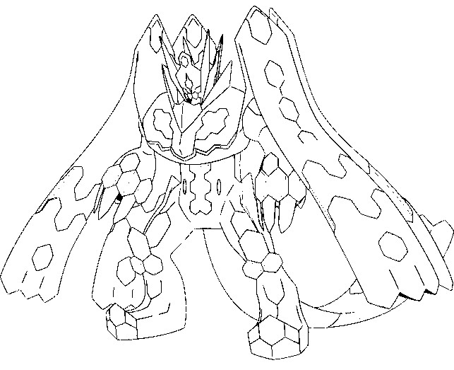 pokemon zygarde coloring pages - photo#13