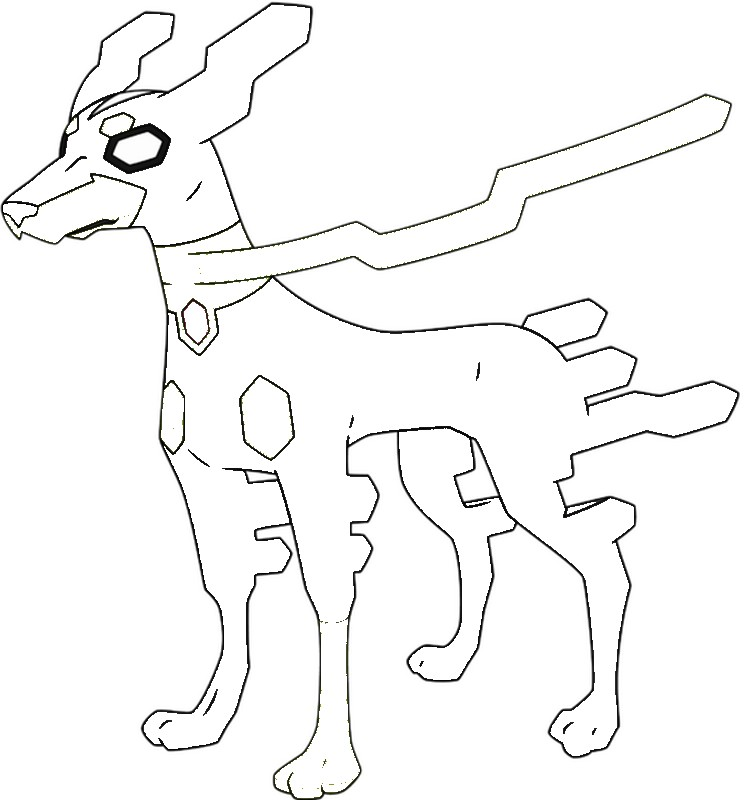 pokemon zygarde coloring pages - photo#17