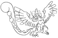 Coloriage Pokémon forme alternative 641 Boreas