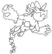 Coloriage Pokémon forme alternative 642 Fulguris