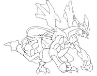Coloriage Pokémon forme alternative 646 Kyurem noir