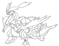 Coloriage Pokémon forme alternative 646 Kyurem blanc