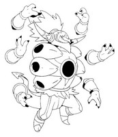 Coloriage Pokémon forme alternative 720 Hoopa déchaîné (unbound)